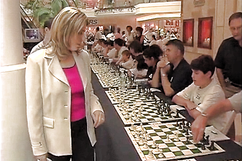 Susan Polgar vs multiple players pmb